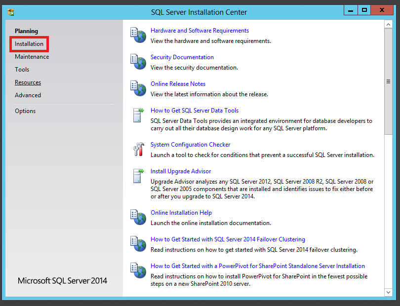 Step-by-Step Installation of Microsoft SQL Server 2014: (2/6)