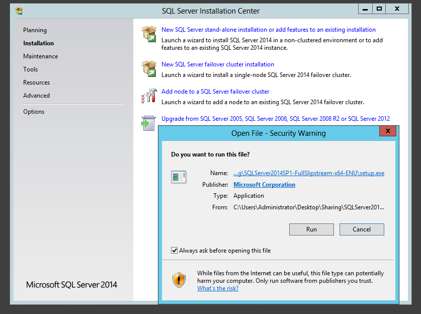 Step-by-Step Installation of Microsoft SQL Server 2014: (4/6)