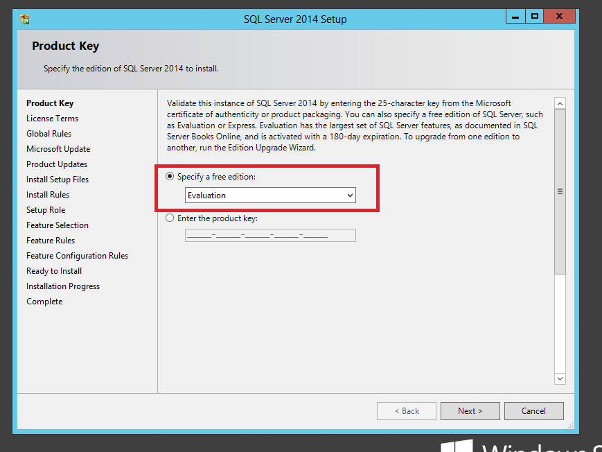 Step-by-Step Installation of Microsoft SQL Server 2014: (5/6)