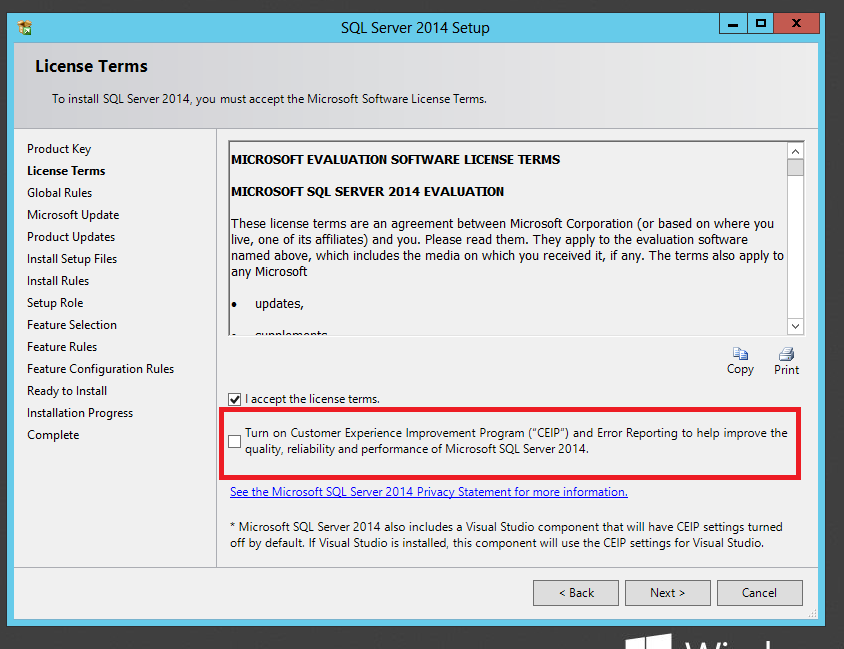 Step-by-Step Installation of Microsoft SQL Server 2014: (6/6)
