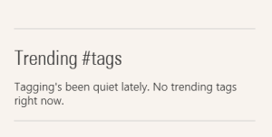 Trending tags
