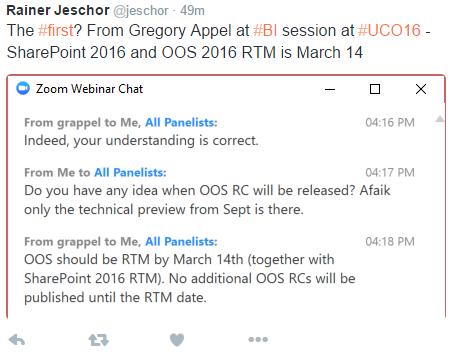 2016_10_02 SharePoint RTM Tweet