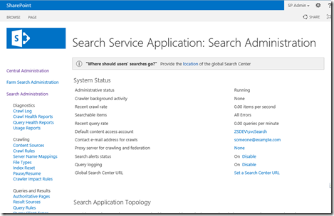 Resetting Search Index in SharePoint 2013: – Vignesh's