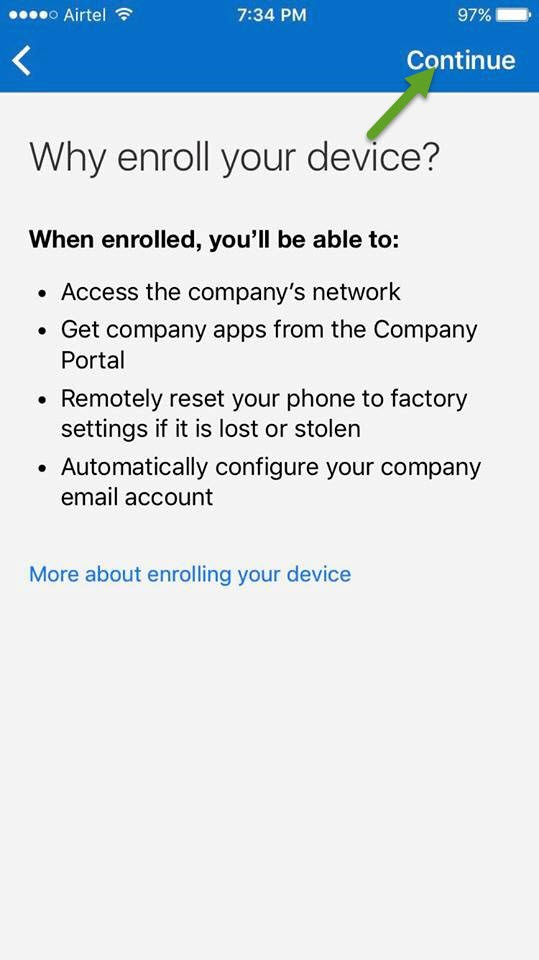 User guide to enroll your iOS Device with Microsoft Intune