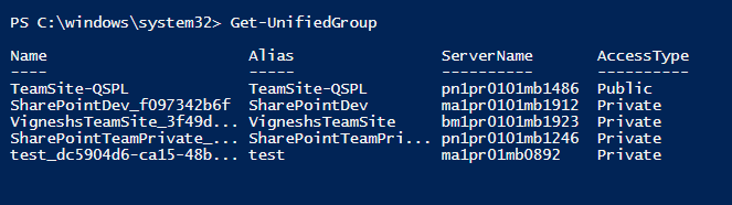 Useful PowerShell cmdlets to administer Office 365 Groups