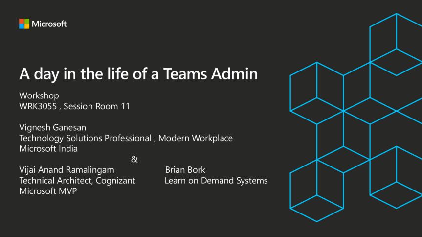 Teams Admin workshop